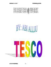 Tesco marketing strategy essay